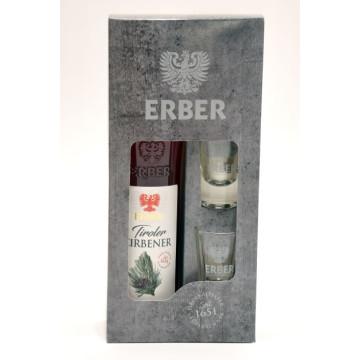 Geschenkset Tiroler Zirbener 30 % + 2 Gläser